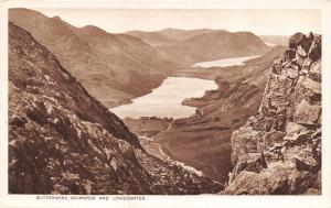 Vintage 1933 Lake District Postcard, Buttermere, Crummock & Loweswater X70