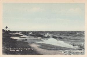 NORTH BAY , Ontario , Canada , 1910-30s ; Lake Nipissing , The Breakers