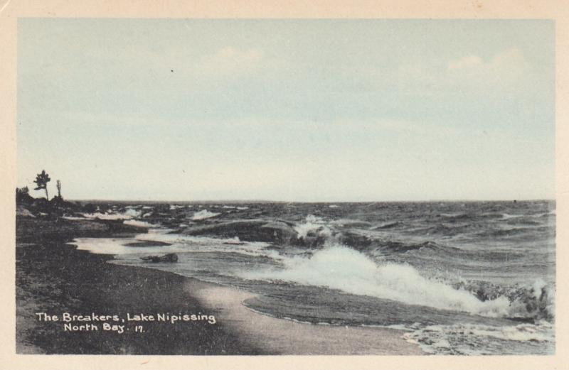 NORTH BAY , Ontario , Canada , 1910-30s ; Lake Nipissing , The Breakers