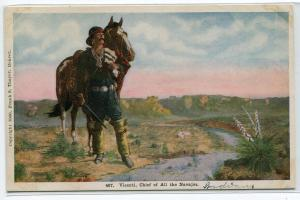 Vicenti Chief of All Navajos Native American Indian 1920c postcard