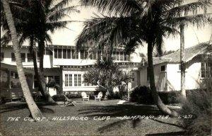 Pompano Beach FL The Court Hillsboro Club Real Photo Postcard
