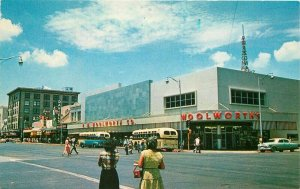 Autos Buses Woolworth Department Store Phoenix Arizona Postcard Petley 9175