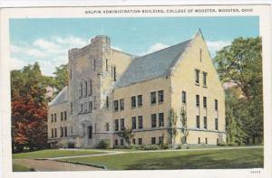 Ohio Wooster Galpin Administration Building College Of Wooster Curteich