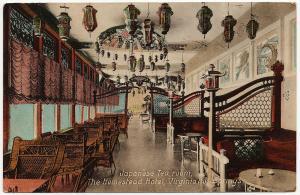 1912 Virginia Hot Springs VA Japanese Tea Room The Homestead Hotel DB Postcard