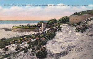 Florida Pensacola Birds Eye View Of Fort Barrancas and San Carlos and McCerea...