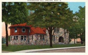Ypsilanti, Michigan, MI, Starkweather Hall, Linen Vintage Postcard h3583