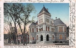 United States post Office Bldg., Montpelier, Vermont, Early Postcard, Used