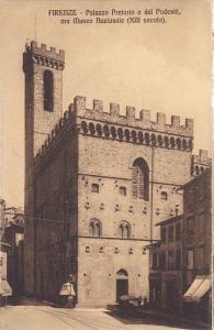 Palazzo O Del Podesta, Ora Museo Nazionale (XIII Secolo), Firenze (Tuscany), ...