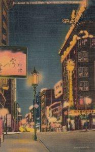SAN FRANCISCO , California , 30-40s ; Chinatown at Night