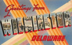 LP41  Large Letters Wilmington Delaware  Postcard