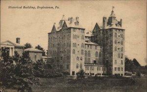 Doylestown PA Historical Bldg c1910 Postcard