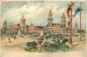 Postcard Has Worlds Fair Cancelation, Hold To Light, Official Souvenier, St. ...