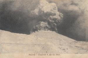 VESUVIO, Italy, Eruzione 9 Aprile 1906