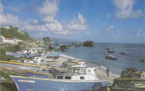 BARBADOS, 1940-1960's; Fishing Boats, Tent Bay