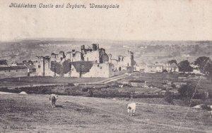 WENSLEYDALE, Yorkshire, England, PU-1908; Middleham Castle And Leyburn