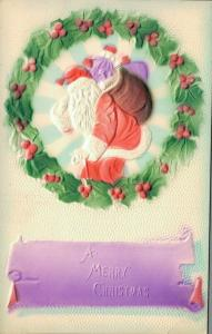 A Merry Christmas Vintage Postcard Santa Claus 02.81