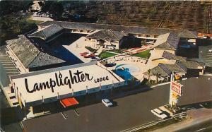 SUNNYVALE, California  CA   LAMPLIGHTER LODGE  Roadside ca 1950s-60s  Postcard