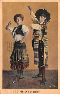 Spain Old Vintage Antique Post Card In Old Madrid Costume 1910