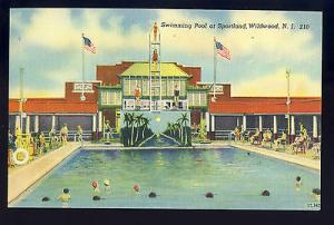 Nice Wildwood, New Jersey/NJ Postcard, Sportland Swimming Pool