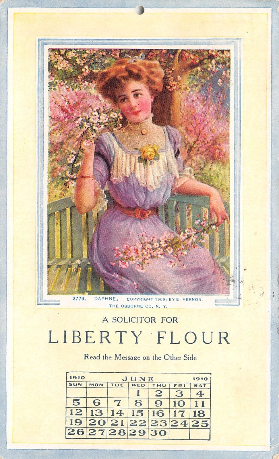 Liberty Is Lovely Lady >> Lincoln Nebraska Liberty Flour Mill Lovely Lady Daphne Calendar Adv