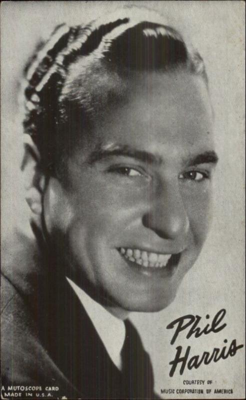 Music - Big Band Legends - Mutoscope Postcard PHIL HARRIS