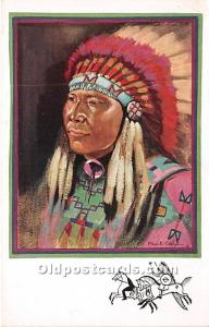 Wanhinkpe Painting by Paul Coze The Arrow, Sioux Warrior Indian Unused