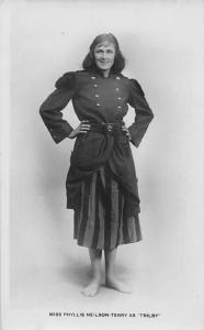 Miss Phyllis Neilson Terry as Trilby Edwardian Actress, Real Photo