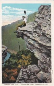 Maryland Cumberland Lover's Leap 1652 Feet Above Sea Level Curteich