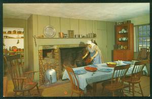 Old Sturbridge Village Kitchen Pliny Freeman Interior Farmhouse Postcard