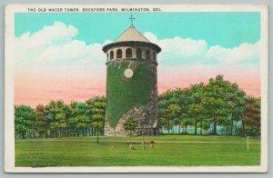 Wilmington Delaware~Old Water Tower Rockford Park~Vintage Postcard
