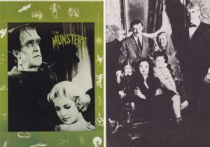 The Addams Family Munsters 2x Film Movie Postcard s
