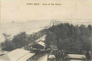 Port-Said -View of the Suez Canal, Egypt, Divided Back