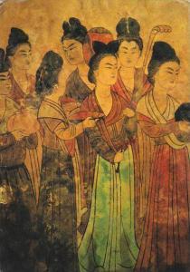 Japan Qianling Mural In The Princess Yongtai Tomb