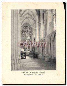 Nave Modern Postcard of Our Lady of the century XIV Verriere