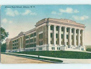 Unused Divided-Back HIGH SCHOOL Albany New York NY k0248