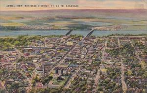 Arkansas Fort Smith Aerial View Business District