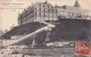 France Biarritz Grand Hotel et Palais Bellevue La Rampe Mobile 1910