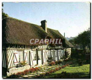 Modern Postcard Normandy Picturesque Chaumiere