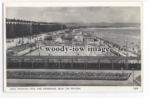 tq1340 - The Paddling Pool and Promenade, from the Pavilion in Rhyl - Postcard