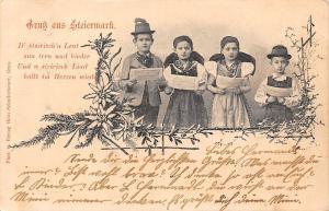 Austria Edelweiss Song Carol Children Music, Gruss aus Steiermark 1905