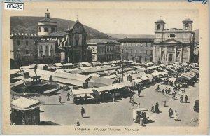 60460  - CARTOLINA d'Epoca - L'AQUILA città :  MERCATO
