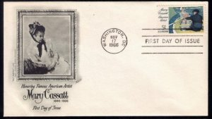 1966 US Sc #1322 FDC Honor Mary Cassett/American ArtistExcellent ...