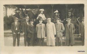 C-1910 Salt Lake City Utah Tourist Bus Group Photo RPPC real photo 6940