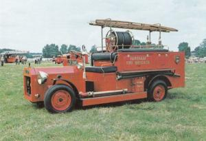 Fareham Fire Brigade Engine Postcard