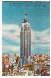Empire State Bldg & Television Tower NYC