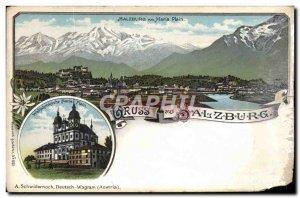 Postcard Old Salzburg Gruss