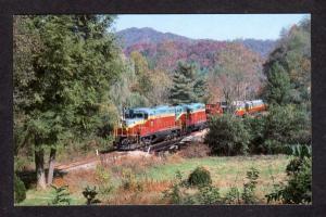 NC Great Smoky Mountains Railroad Train Murphy Dillsboro North Carolina Postcard