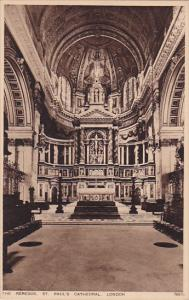 LONDON, England, 1900-1910's; The Reredos, St. Paul's Cathedral
