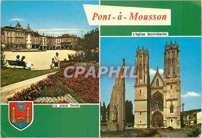 Modern Postcard Pont a Mousson (M and M) Place Duroc The church Saint Martin
