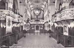 Switzerland Mariastein Inneres der Kirche 1958 Photo
